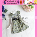 2015 Alibaba Golden Supplier Handmade Baby Dress High Quality One Piece Children Dress Embroidery Design
