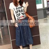 New Stylish Lady Women's Fashion Casual A-Line Loose Denim Jeans Skirt