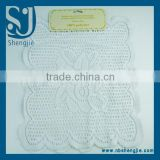 Trade Assurance 2Pcs polyester beauty round lace placemat or lace table cover with hanging card packing