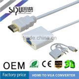 SIPU high speed mini displayport hdmi to vga adapter best price Dp to vga cable vga to mini displayport converter