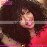 2016 hot sale full lace curly bob wig 22inch 150% density natural color mongolian hair kinky curly wig for black women