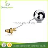 Straight Steel Ball Brass Regulative Floating Ball Valve