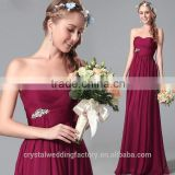 New Design Elegant Cheap Cap Sleeve Patterns Beach Bridesmaid or Evening Dresses Long LB41