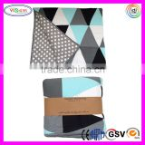 E074 Reversible Triangle Quilt Blanket Patchwork Little One Comfy Fabric Patchwork Baby Blanket
