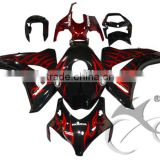 For 08-11 Honda CBR1000RR CBR 1000RR Black Injection ABS Fairing Body Work