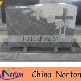 Gray carved flower granite cheap headstones for babies NTGT-428A