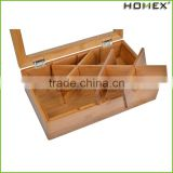 Tea Box Tea Storage Bamboo Natural, Nice Tea Chest Tea Packaging Good for Tea Bag Holder/Homex_Factory