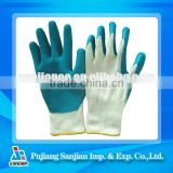 latex gloves for beauty salon Sanjian Latex Coated cotton PU PVC Nitrile Nitril Rubber Coating Safety