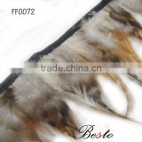 New products arrive dyed artificial grizzly rooster feather trimming wholeasale