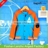 Boy's winter apparel designed hoody baseball jacket fashion and brand designs street boys' overcoat