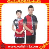 High quality custom chinese restaurant uniforms wholesale for waiter and waitress