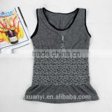 China alibaba supply gray heather women camisole tops softness skin underwear sleeveless shirt for ladies