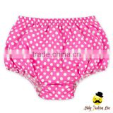 Lovely Free Pink And White Polka Dots Soft Cotton Newborn Baby Girl And Child Toddler Size Shorts Soft Breathable Diaper
