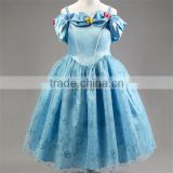 2016 Hot Cinderella dress girls party dress beautiful wedding princess dress fashion girl dress
