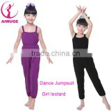 Child Ballet Leotard Jumpsuit Children Cotton Gymnastic Suspenders Pants Training Ballet Dancewear