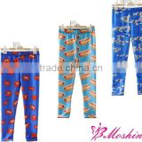 2014 new arrival kids leggings printed leggings custom wholesale kids leggings