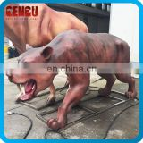 High Simulation Animal Sculpture Animatronic Machairodus Model