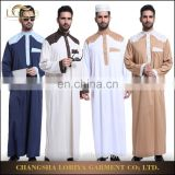 Online hot sale muslim men jubah thobe clothing excellent quality long sleeve dubai kaftan kimono muslim men abaya