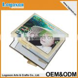 OEM lovely matel makeup double sided square mirror