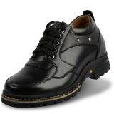casual men height increasing 9 CM elevator leather shoes