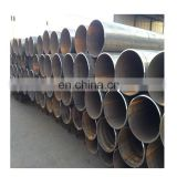 en10219 s355 s355J2H s355JR sprial welded steel pipe for construction materials with black oil painting