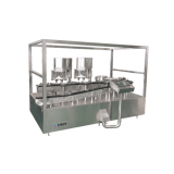 4 HEADS POWDER FILLING CAPPING MACHINE