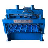 Glazed trapezoidal sheet roof tile wall panel roll forming machine good sale