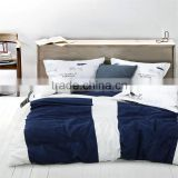 Blue and white duvet cover sets adult cartoon bedding set oecan ship pattern 3d comforter cover set