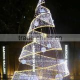 2015 artificial giant spiral christmas tree with decorative light
