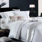 400TC High quality 100% Cotton Satin Fabric hotel bedding set. 5 Star Hotel duvet cover set