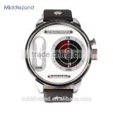 Luxury watch with leather band for business market American water resistant