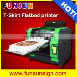 A3/A4 size flatbed hot sale digital garment printing machine for Tshirt printing good quality