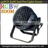 DJ stage light led par 54pcs 3w top quality led with zoom Wash -- Spot , disco led wall wash waterproof outdoor & indoor