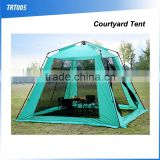 (120523)Outdoor glamping automatic hexagon mosquito net courtyard tent
