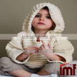 Baby Rib Knitted Hooded Cardigan in Mongolia Cashmere