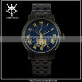 transparent wrist watch skelenton men mechanical automatic watches stainless steel luxury