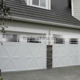 Exterior Position and Folding Open Style Frosted Glass Garage Door
