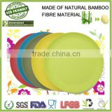 bamboo fiber thermal disposable hot food plate