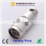 n bulkhead RF connector N female straight solder type with 4 hole flange XiXia Communication