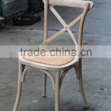 Classical X Back Antique Teak Wood Chair