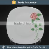 Modern flower decal white ceramic chinese dinner plates                                                                                                         Supplier's Choice