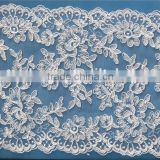 2015 newest bridal veil wedding accessories lace trim