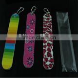 New Style Mini Promotional Nail File with Keychain in Aluminum Foil Bag