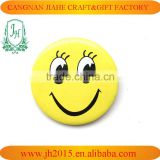 high quality metal lovely smile face tin pin botton badge manufacture