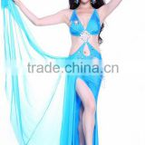 Wuchieal hot sale belly dance show lyrical dance costume dress