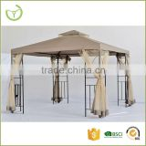 3X3X2.65 M Steel+aluminum+polyester wrought iron gazebo                                                                         Quality Choice