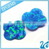 10*10 MM Machine Cut Flower Shaped Synthetic Opal Loose Stones