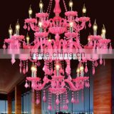 2016 Pop lighted pink wedding chandelier