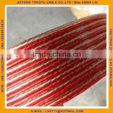 Transparent Red Copper Speaker Wire 2x1.5mm speaker cable