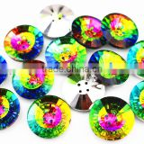 China Wholesale Flat Back Crystal Sewing Buttons